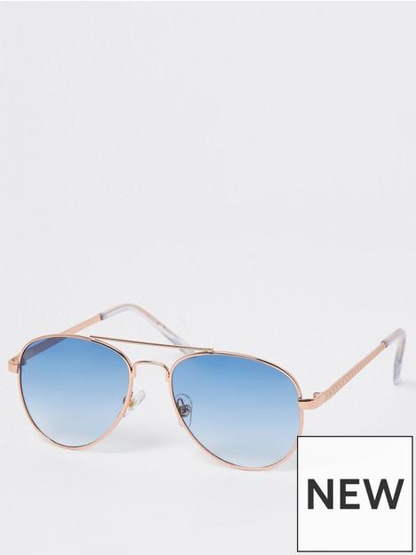 river-island-girls-aviator-sunglasses-blue