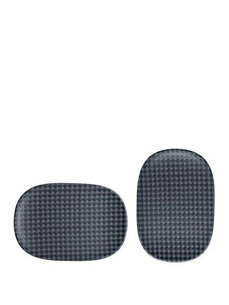 denby-impression-charcoal-set-of-2-accent-medium-oblong-platters