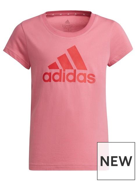 adidas-junior-girls-bl-t-shirt-pinkred