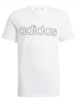 adidas-junior-boys-linear-t-shirt-whiteblack