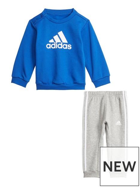 adidas-infants-unisex-badge-of-sport-crew-amp-jog-pant-set-bluegrey