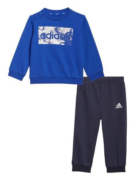 adidas-adidas-infant-unisex-linear-logo-crew-jog-pant-set