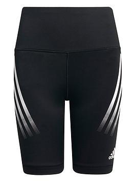 adidas-junior-girls-believe-this-3-stripes-shorts-blackwhite