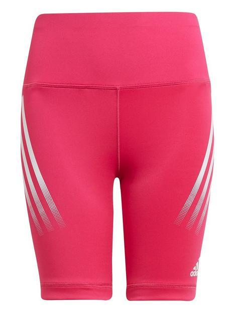adidas-junior-girls-believe-this-3-stripes-short-pinkwhite