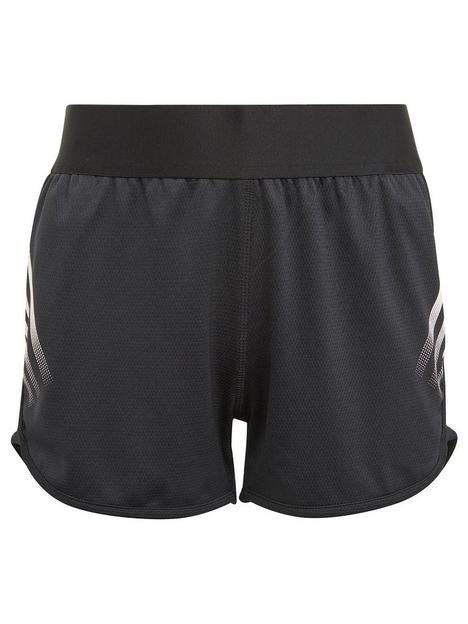 adidas-junior-girls-aeroreadynbsp3-stripes-short-blackwhite