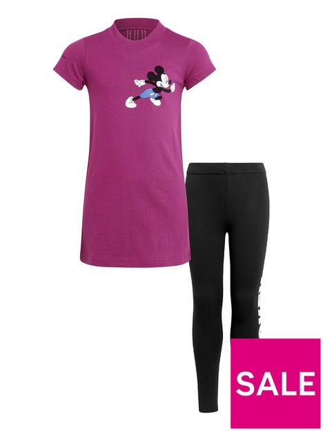 adidas-girlsnbspdisney-mickey-mouse-t-shirt-and-legging-set-black-pink
