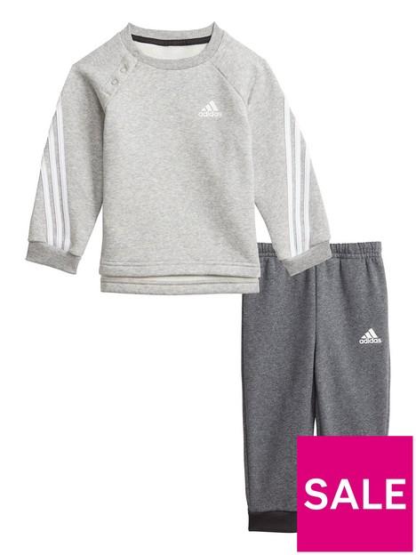 adidas-infant-unisex-3-stripe-crew-amp-jog-pant-set-greyblack