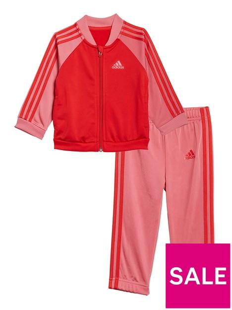 adidas-infant-unisex-i-3-stripes-tracksuit-tricot-redpink