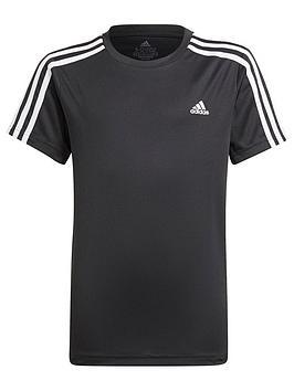 adidas-junior-boys-3-stripes-t-shirt-blackwhite