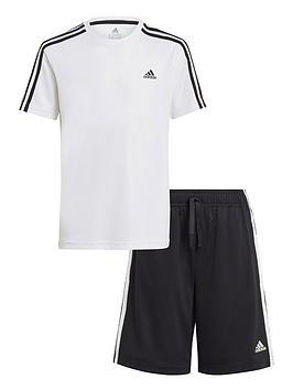 adidas-junior-boys-3-stripes-t-shirt-set-whiteblack