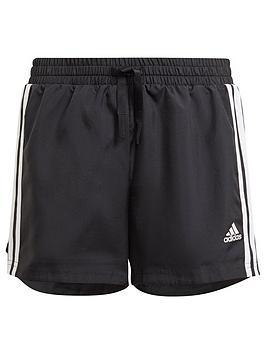 adidas-junior-girls-3-stripe-shorts