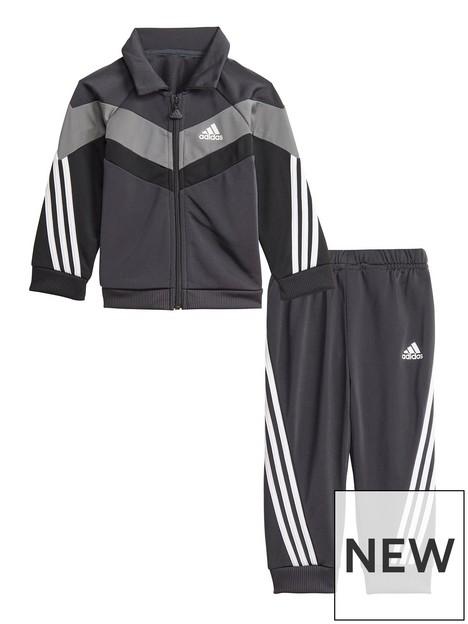 adidas-infant-unisex-future-icons-shiny-tracksuit-blackgrey