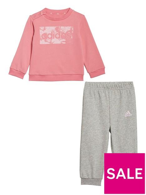 adidas-infant-girls-linear-logo-crew-amp-jog-pant-set-pinkgrey