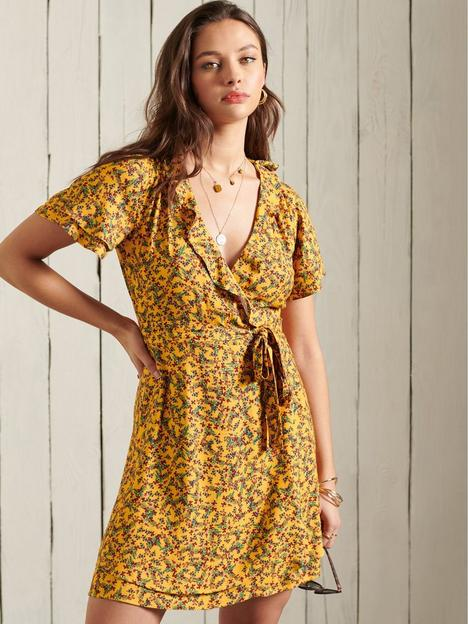 superdry-summer-wrap-dress-autumn-ditsy-gold