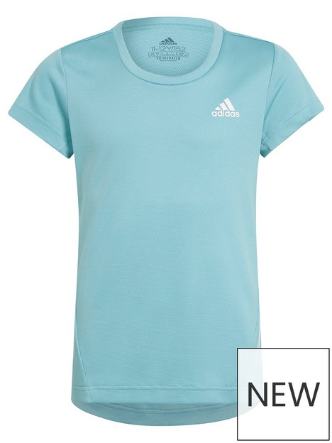 adidas-junior-girls-aeroreadynbsp3-stripes-t-shirt-blue