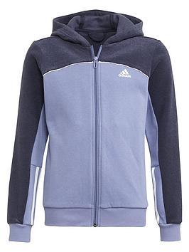 adidas-junior-girls-cb-fleece-hoody-tt-purplenavy