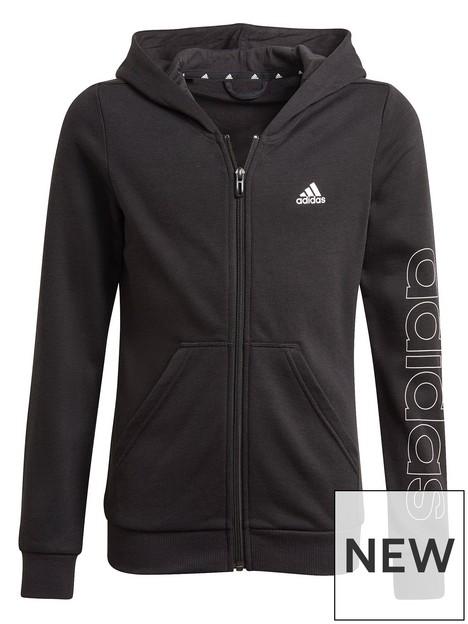 adidas-junior-girls-lin-full-zip-hoody