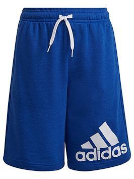 adidas-junior-boys-big-logo-shorts-bluewhite