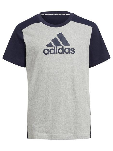 adidas-junior-boys-badge-of-sport-t-shirt-greynavy