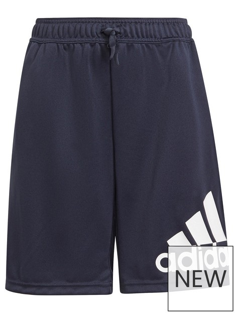adidas-junior-boys-big-logo-shorts-blackwhite