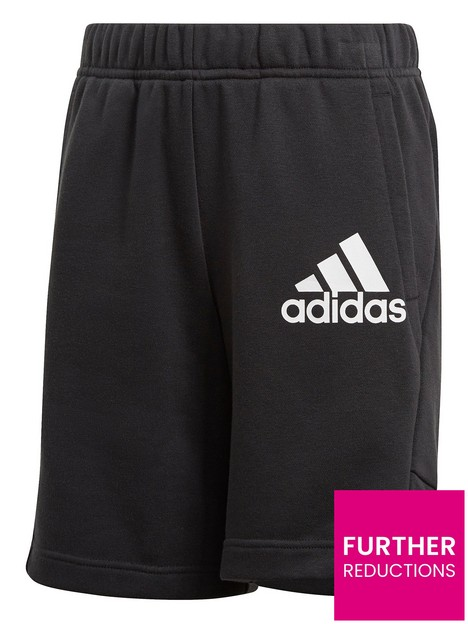 adidas-junior-boys-badge-of-sport-shorts-blackwhite
