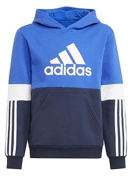 adidas-junior-boys-fleece-hoodie-bluenavy
