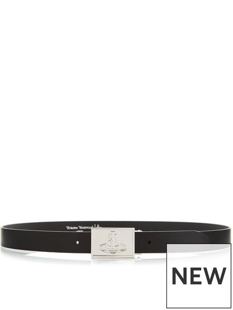 vivienne-westwood-mens-orb-plaque-leather-belt-black