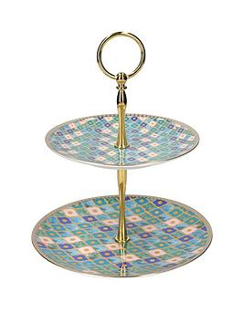 maxwell-williams-maxwell-williams-kasbah-porcelain-mint-two-tier-cake-stand