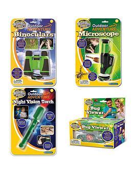 Brainstorm Toys Outdoor Adventurers Kit (Binoculars, Microscope, Night Vision Torch, Bug Viewer)