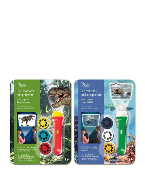 natural-history-museum-nhm-dinosaur-and-sea-creatures-torches-and-projectors-2-pack