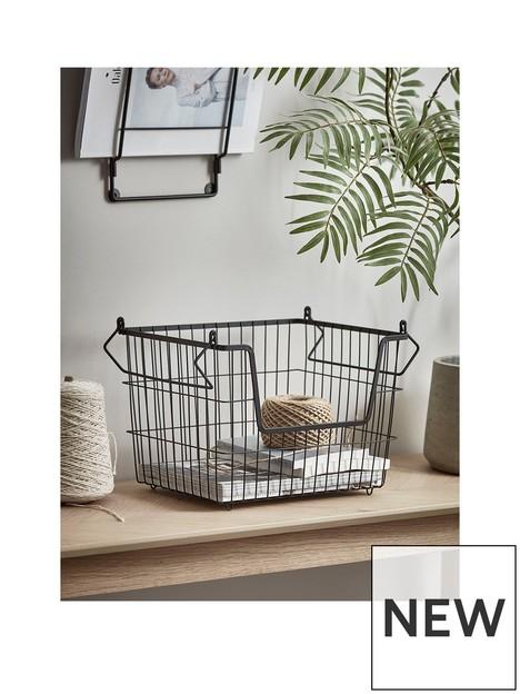 cox-cox-cox-cox-small-black-wire-stackable-basket
