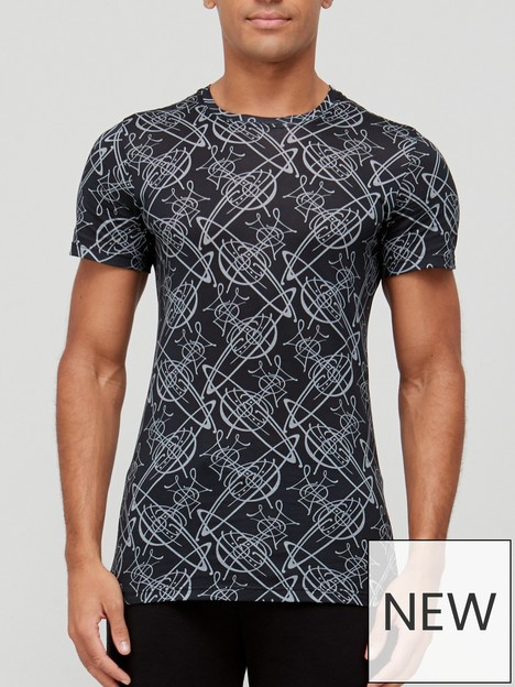 vivienne-westwood-all-over-orb-logo-nightwearnbspt-shirt-black