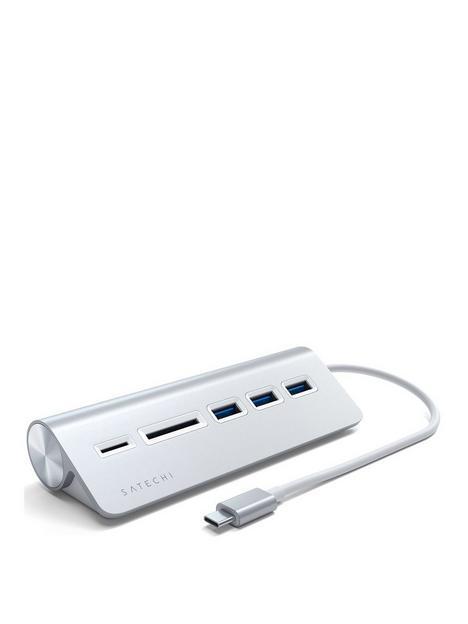 satechi-type-c-aluminium-usb-hub-amp-card-reader-silver