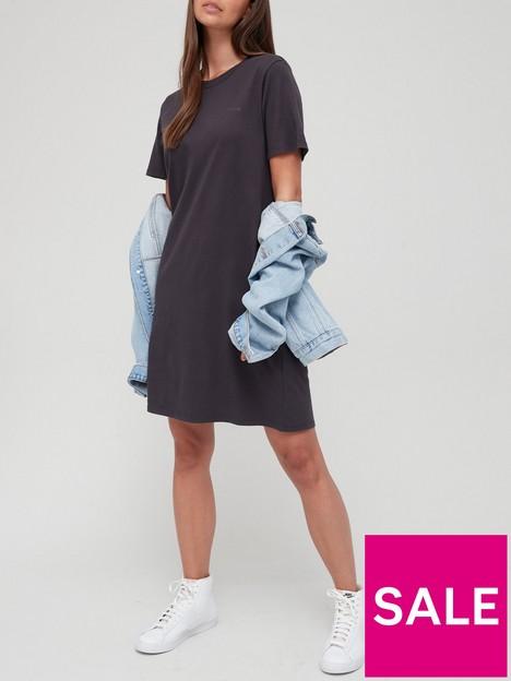 levis-elle-100-cotton-t-shirt-dress-black