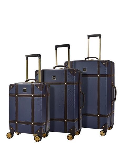 rock-luggage-vintage-8-wheel-suitcases-3-piece-set-navy