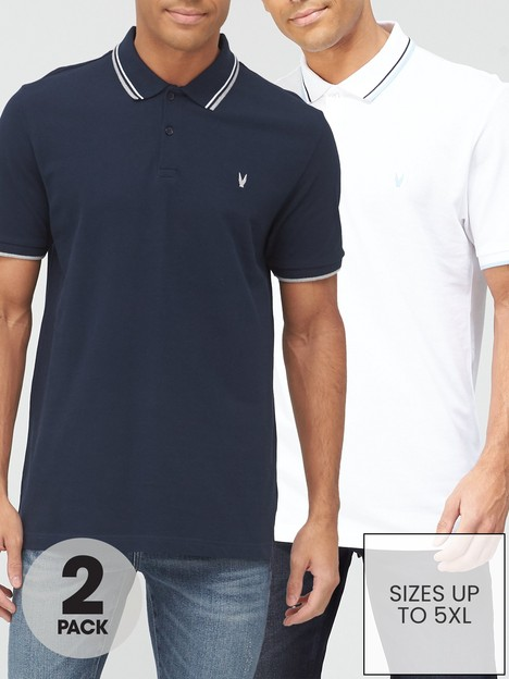 very-man-2-pack-essential-polo-navy-white