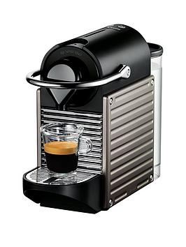 Nespresso Xn300540 Pixie Coffee Machine By Krups - Titanium