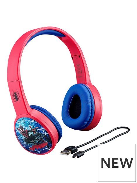ekids-spider-man-kidsafe-volume-controlled-bluetooth-headphones