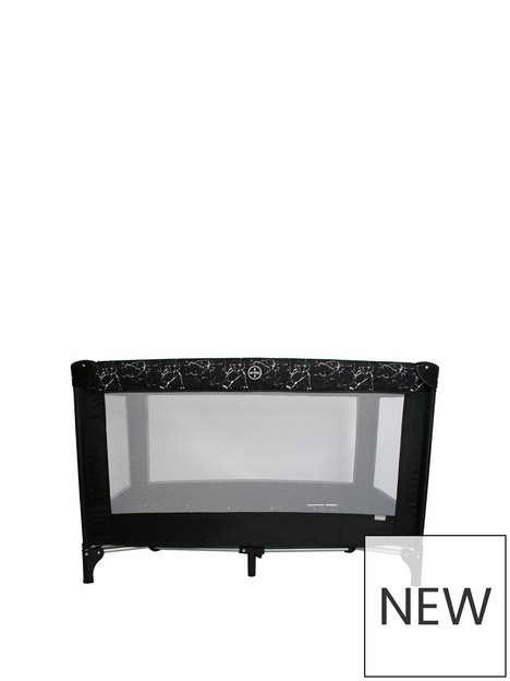my-babiie-black-marble-travel-cot