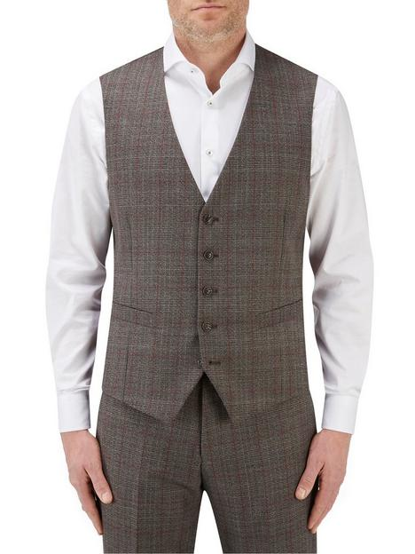 skopes-havlin-5-button-overcheck-waistcoat-greyred