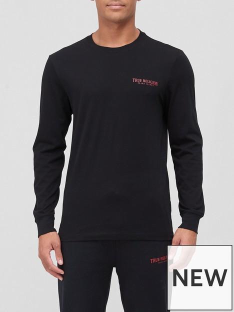 true-religion-arch-chest-logo-long-sleeve-t-shirt-blacknbsp