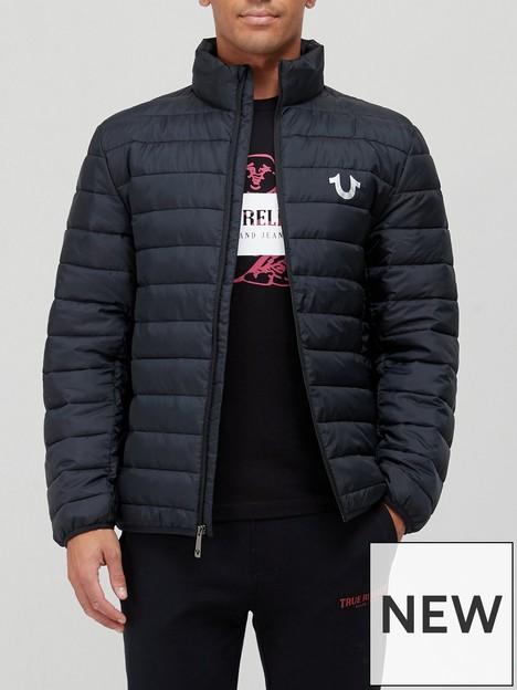 true-religion-arch-logonbsppadded-jacket-black