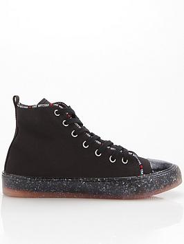 love-moschino-recyclednbsphigh-top-trainers-black