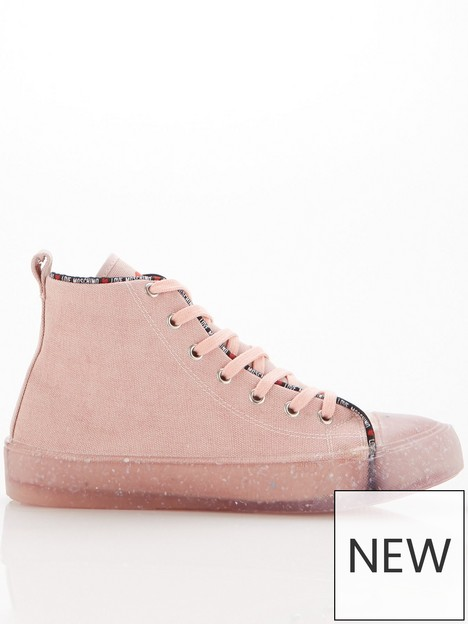 love-moschino-recycled-high-top-trainers-pink