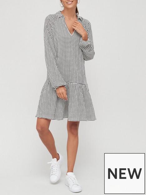 v-by-very-dropped-waist-dress-mono