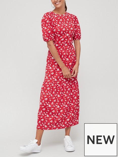 v-by-very-puff-sleeve-crinkle-tiered-midi-dress-print