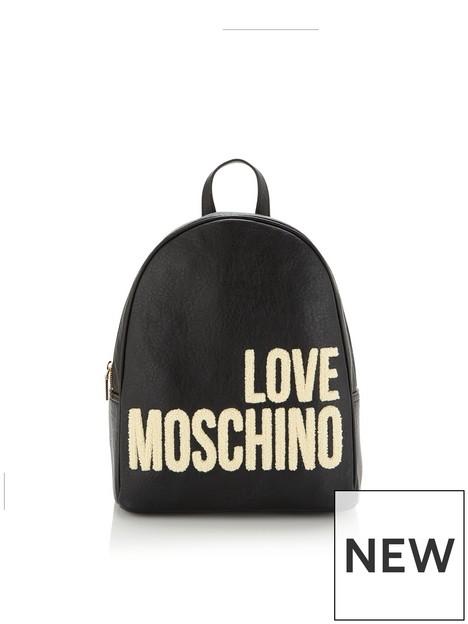 love-moschino-fauxnbspshearling-logo-backpack-black