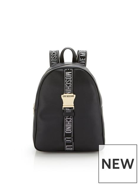 love-moschino-logo-tape-buckle-backpack-black