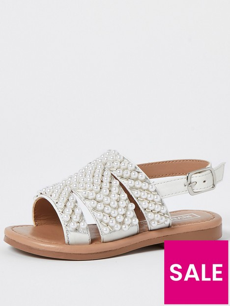 river-island-mini-mini-girls-pearl-sandals-cream