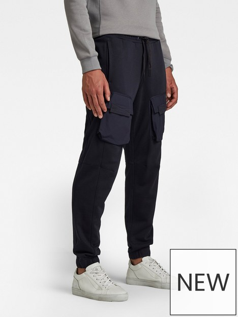 g-star-raw-mixed-woven-cargo-sweat-pants-navy